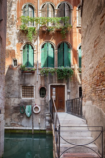 Beautiful view of traditional Venetian buildings. Venice Italy Europe. Classical building in ancient Venice Italy. photo