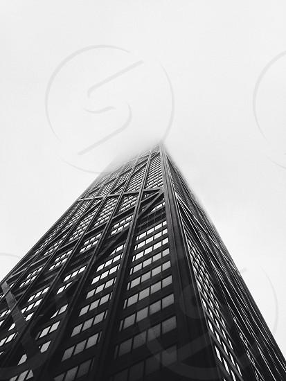 worm's eye view of skycraper building photo