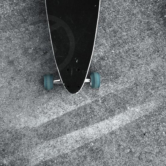 longboard turquoise blue wheels  photo