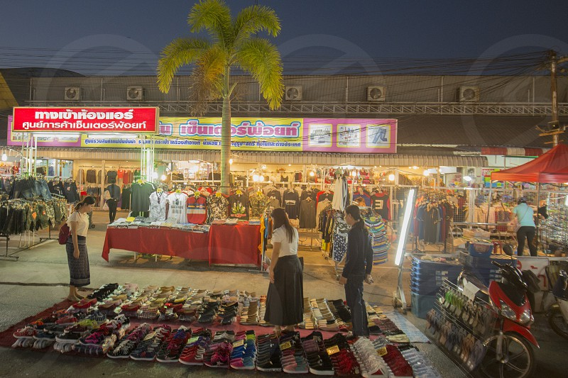 the Marketstreet at UD Town in the city of Udon Thani in the Isan in Northeast Thailand. photo