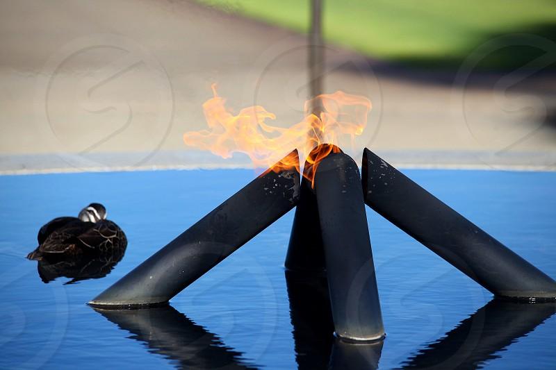 Bali memorial flame in Kings Park Perth Western Australia. photo