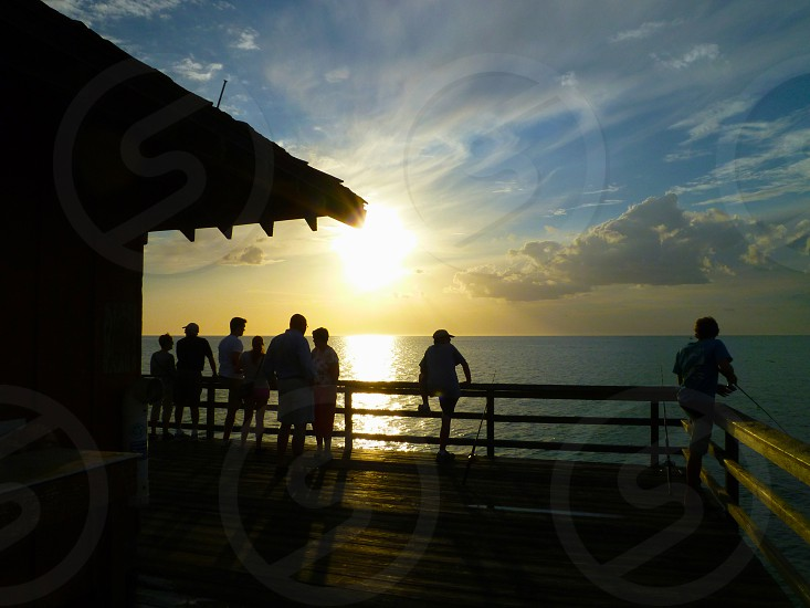 Pier in Naples Florida at Sunset photo