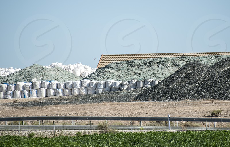 Factory for processing of glass waste photo