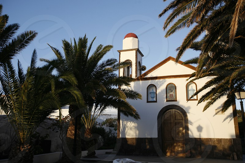 a church in the Village of Puerto de las Nieves on the Canary Island of Spain in the Atlantic ocean. photo