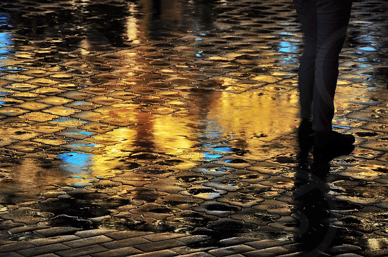 water droplets on water during night photo