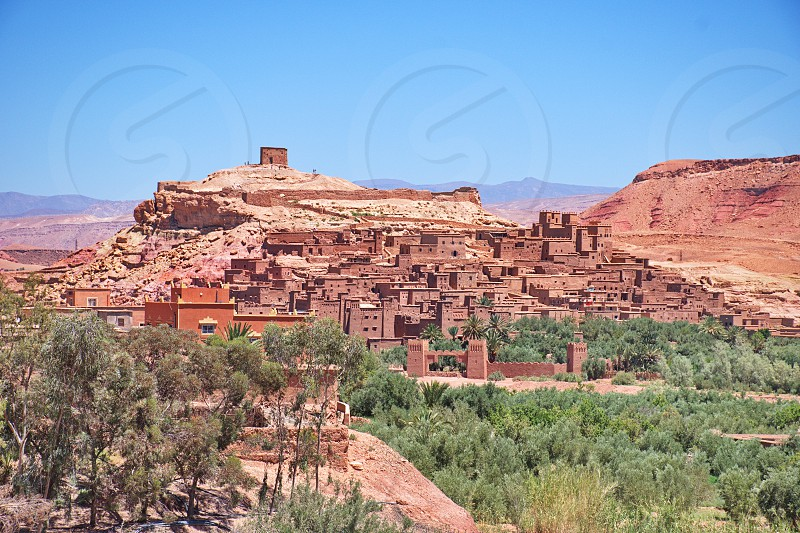 Tourist complex Ait ben Haddou in Morocco photo