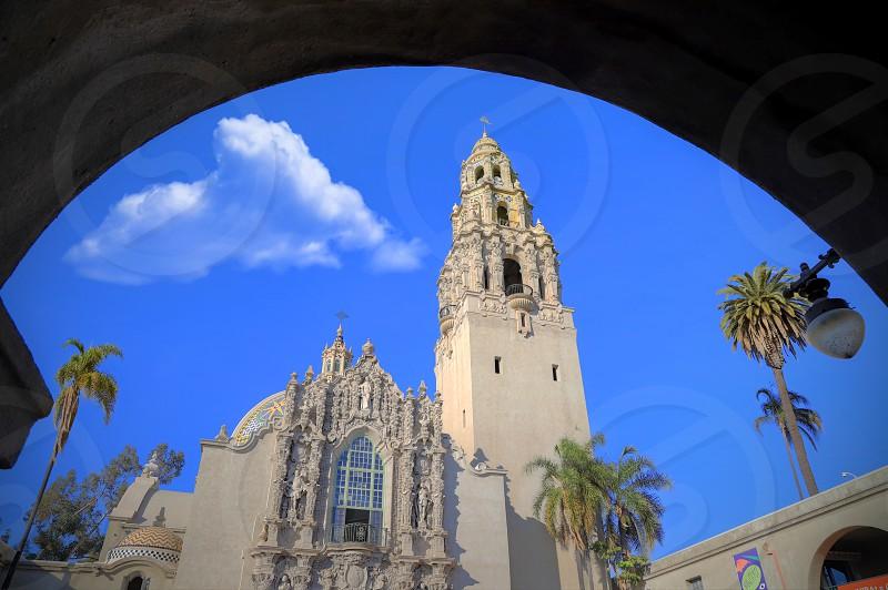 San Diego California USA - February 5 2018 - California Tower overlooking Balboa Park in San Diego California photo