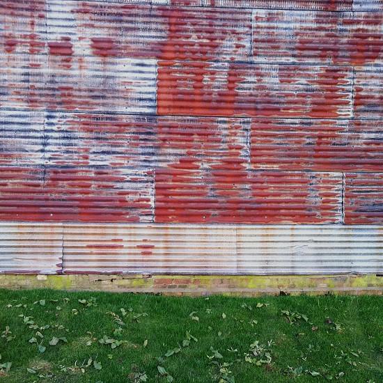Corrugated iron barn photo
