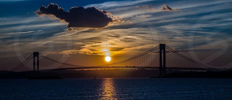 Bridge sunset photo