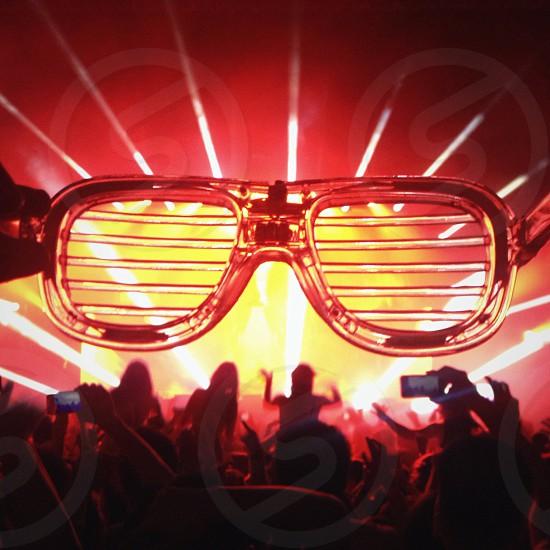 clear framed sunglasses photo