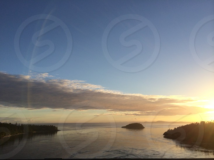 View from the Deception Pass Bridge.  photo