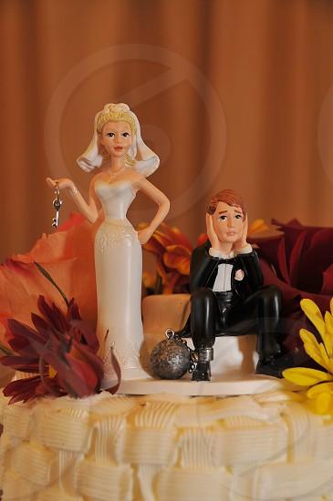 Wedding cake topper Ball & Chain photo