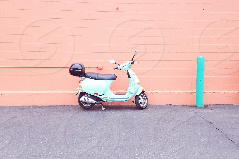 Moped on coral. photo
