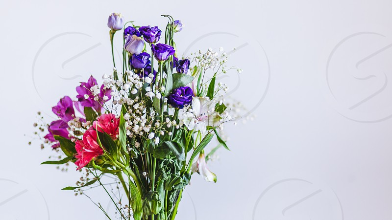 Bouquet of colorful spring flowers photo