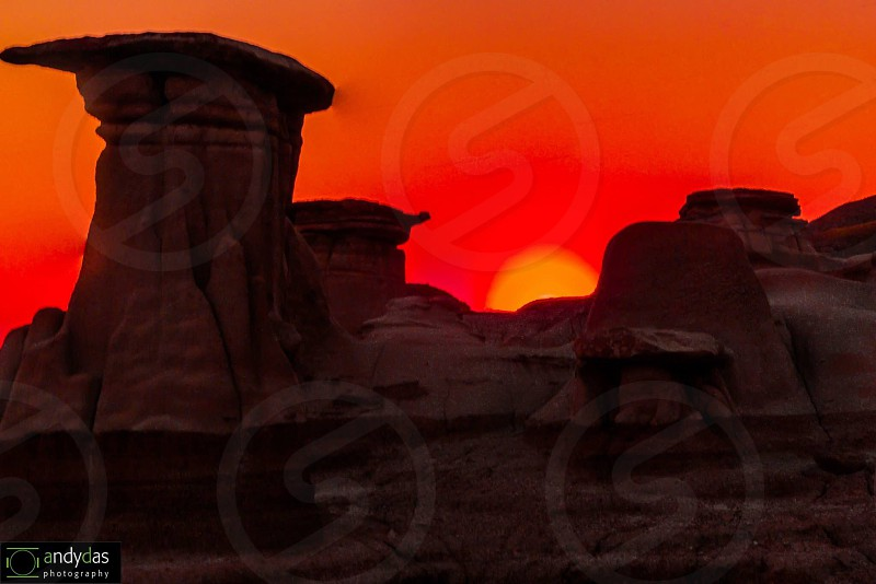 Sunset over the hoodoos!  photo