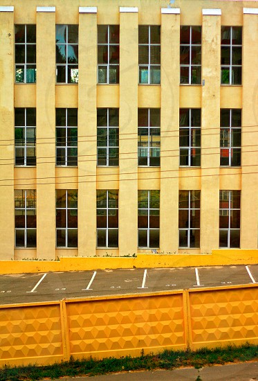 Yellow colored building  photo