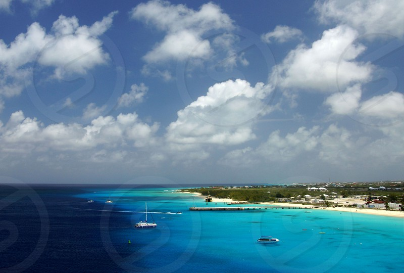 sea aerial view photo