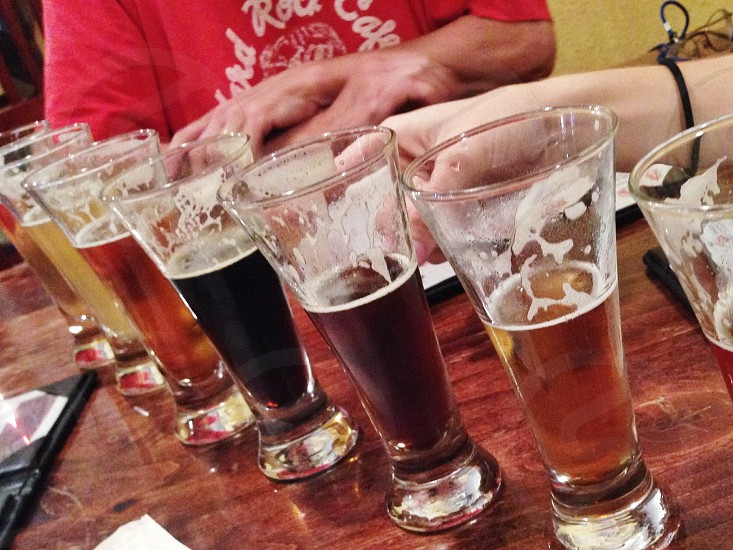 Enjoying a flight of craft beer with friends. Avery Brewery photo