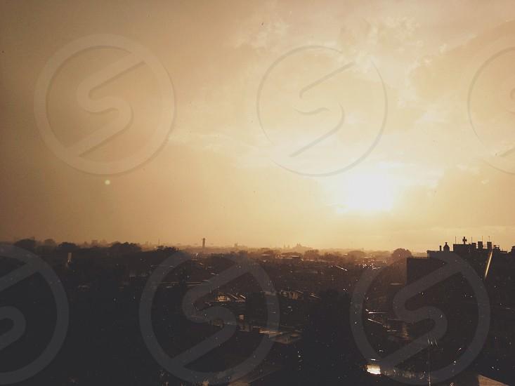 Sunset + rain showers.  photo