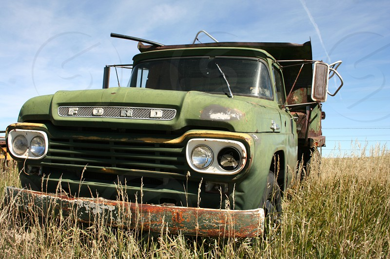 Broken dilapidated old truck  photo