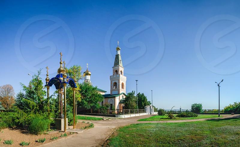Ochakov Ukraine - 09.22.2018. St. Nicholas Cathedral in Ochakov  seaside town in Odessa province of Ukraine on the country's Black Sea coast. photo