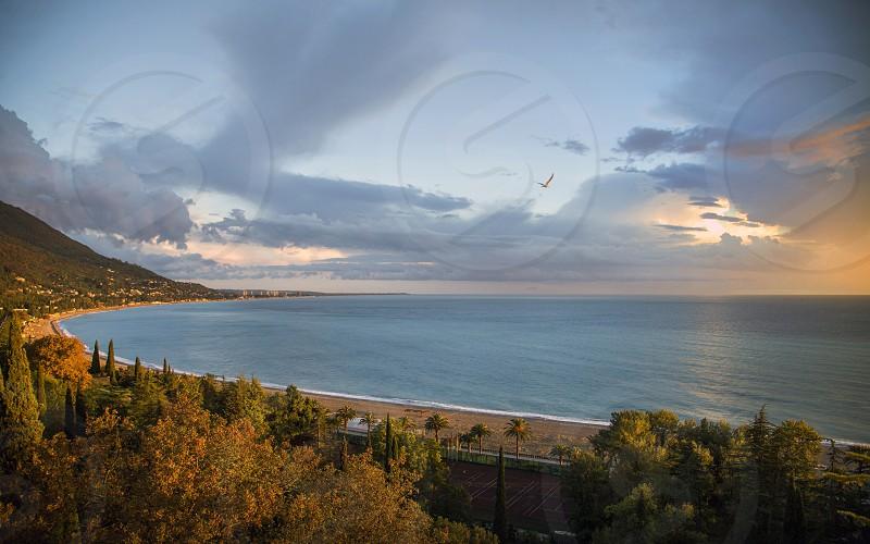 Gagra  Georgia  the Black Sea  landscapes photo