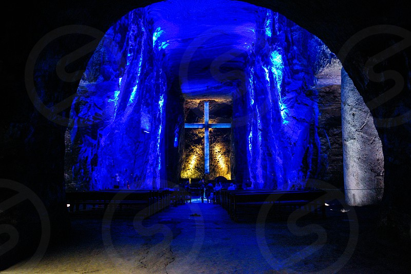 Underground Salt Cathedral of Zipaquira Colombia.  photo