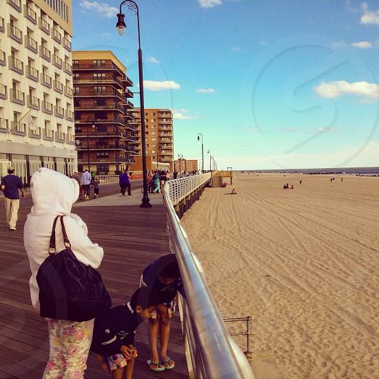 Sunny day Huntington beach Long Island photo