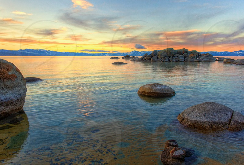 Lake Tahoe sunrise. photo