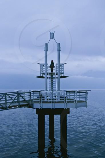 white metal dock photo