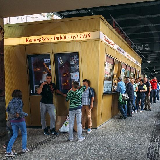 Konnopke currywurst Berlin street food photo