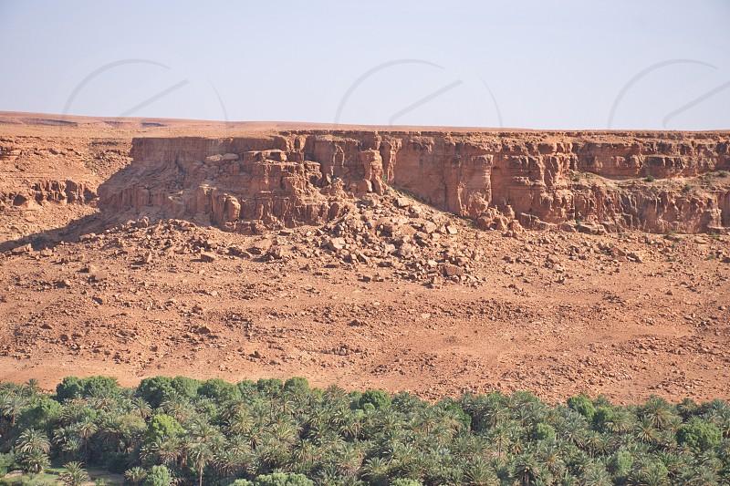 Scenic view of arid landscape in Morocco photo