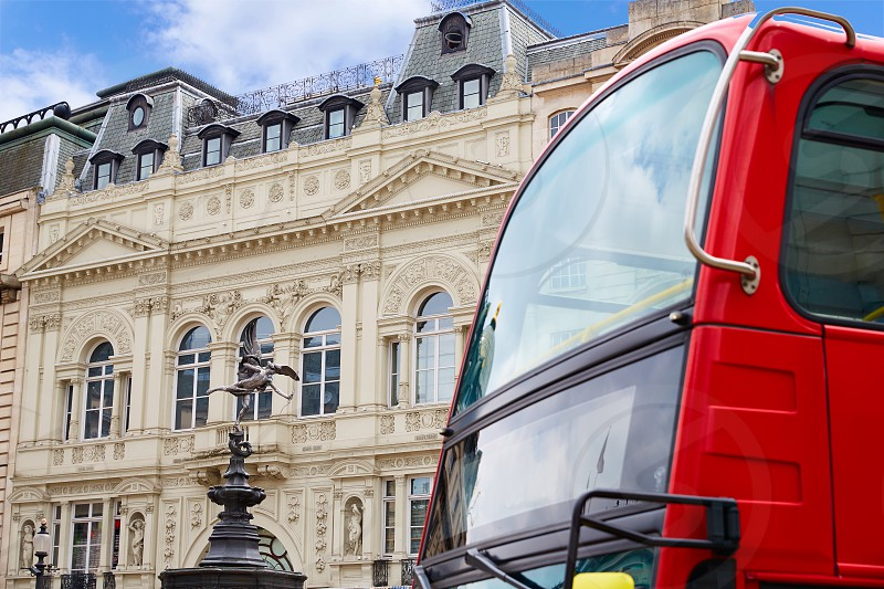 London Bus Piccadilly Circus in UK England photo