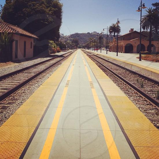 rail road track photo