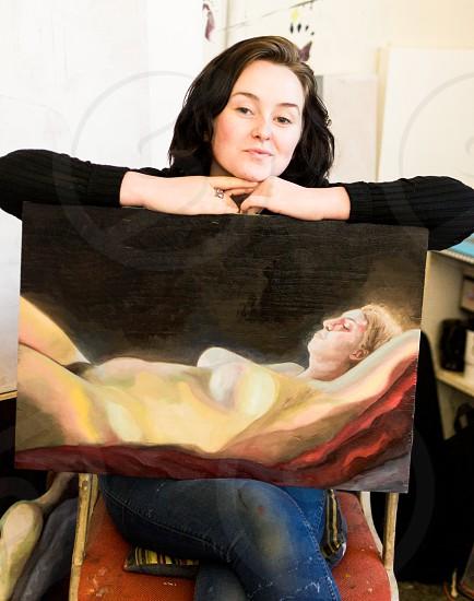 Female Painter Creating Art photo