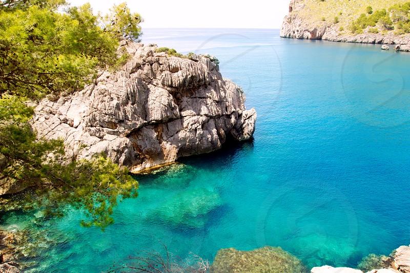 Escorca Sa Calobra beach in Mallorca balearic island from Spain photo