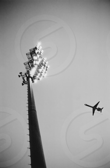 Airplane over Crew Stadium in Columbus Ohio photo