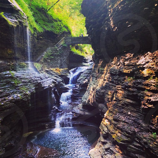 Watkins glen upstate New York nature waterfall fingerlakes  photo