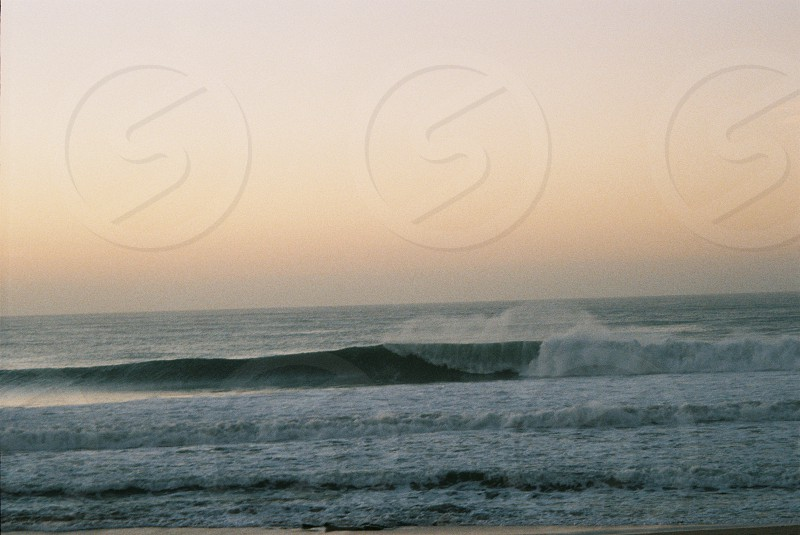 Film photograph at legendary surf spot in Jeffrey's Bay photo