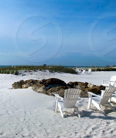 BEACH SOLITUDE Beach ocean sea surfside surf sand white sand sand dunes beach chairs empty chairs beauty beautiful peaceful meditation inspiring bacation Florida photo