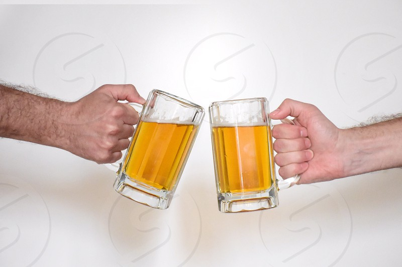 Drinking beer  photo