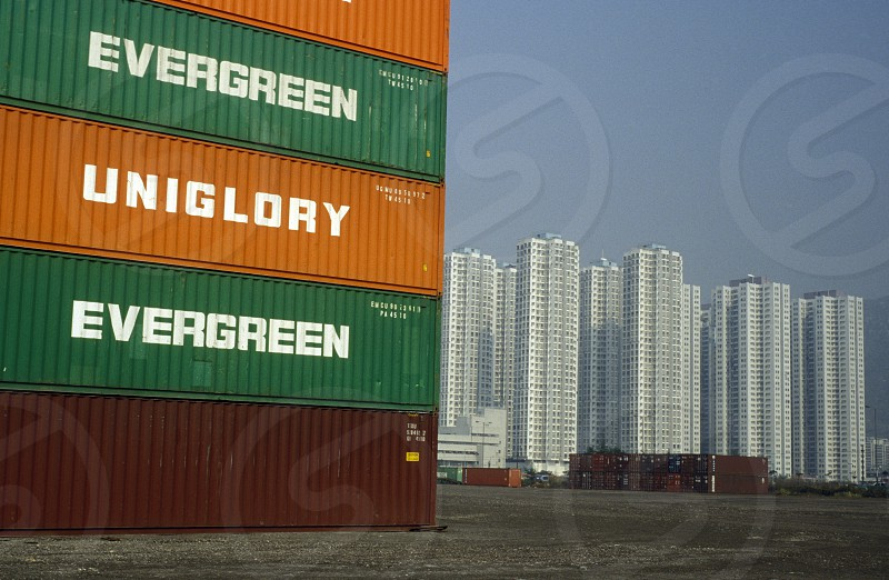 one of the container terminal City Centre of Hong Kong in the south of China in Asia. photo