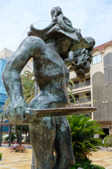 MARBELLA ANDALUCIA/SPAIN - JULY 6 : Salvador Dali Sculpture of Perseus in Marbella Spain on July 6 2017 photo