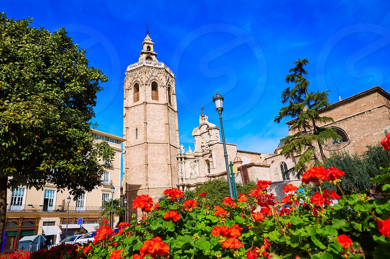 Valencia Cathedral and Miguelete tower Micalet in Spain photo
