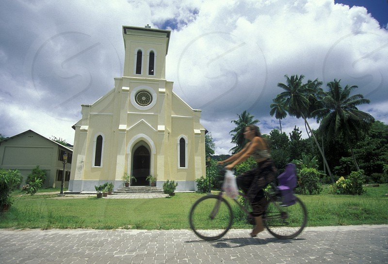 a church on a island on the seychelles islands in the indian ocean photo