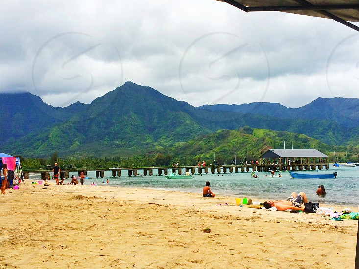 Hanalei Bay. All rights reserved @tkmaunakea photo