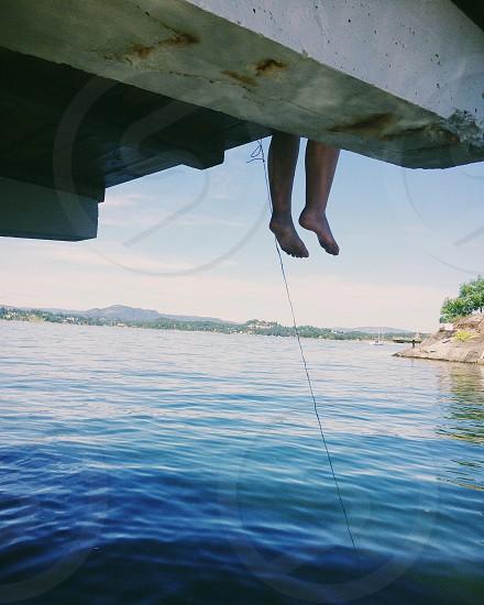 foot hanging photo