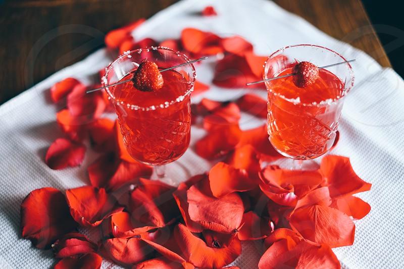 Valentin's day cocktails photo