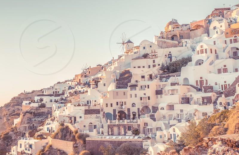 Famous Greek Island Santorini photo