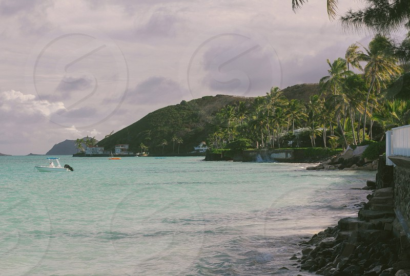 Lanikai Beach as seen from a Private Beach Access Point photo